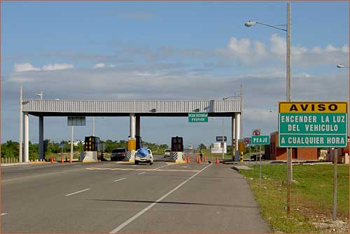 Toll entrance for the new Santo Domingo/Samana Highway