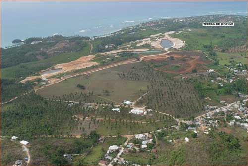 Construction site for Las Terrenas Country Club golf and marina